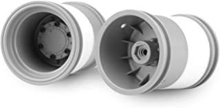 J Concepts 3377S Tribute 2.6x3.6 Monster Truck Wheels with Adaptors, Silver (1 Pair)