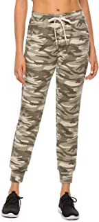 Blooming Jelly Womens Cuffed Sweatpants Drawstring Waist Long Joggers Pants Camo Printed Active Pants Knot with Pockets