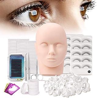 dfa766bc8a6 Pro 10pcs Mannequin Head Eyelash Lash Extension Supplies - False Eyelashes  Extension Practice Exercise Set -