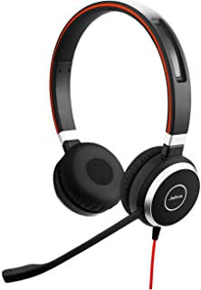 Jabra Evolve 40 Stereo Headset - Unified Communications Headphones for VoIP Softphone with Passive Noise Cancellation - US...