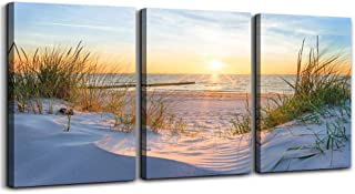 Wall Art For Living Room Wall Decor For Bedroom Poster Blue Sun Beach Grass Ocean..