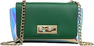 Portable Retro New Exquisite Trendy Casual Fashion Durable Portable Slung Shoulder Small PU Handbag (Color : Green)