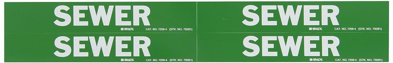 Brady 7259-4 Self-Sticking Vinyl Pipe Marker, B-946, 1 1/8