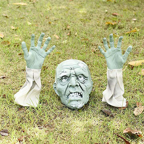 Halloween Realistic Zombie Stakes, Halloween Outdoor Decorations for Garden Graveyard Yard Lawn...