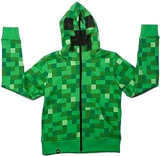 Minecraft クリーパープレミアムジップアップパーカー Kids (S)