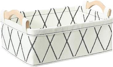 Oubra Dog Toy Bin Small Storage Baskets for Shelf Storage Organizer for Bathroom Bedroom Living Room Toilet Closet Cute Ba...