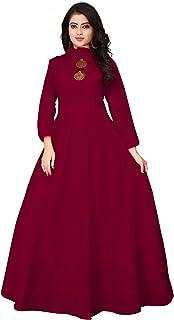 OM SAI LATEST CREATION Women's Stitched Full Sleeve Anarkali Cotton Kurti