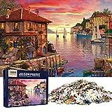 MOOKLIN ROAM Puzzle 1000 Piezas Puerto Mediterráneo, Puzzles Souvenir Regalo para Adolescentes y Adultos