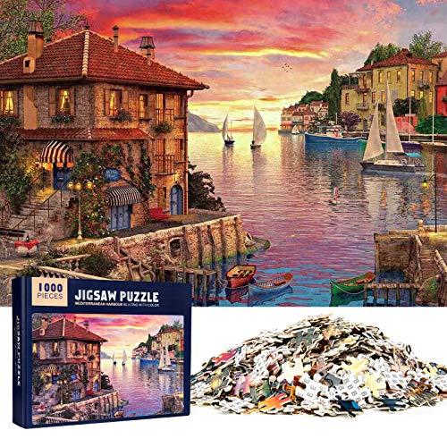 MOOKLIN ROAM Puzzle 1000 Piezas Puerto Mediterráneo, Puzzle