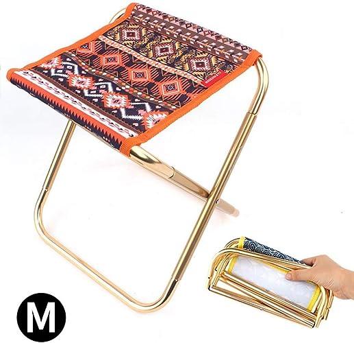 WBDZ Pliante Chaise de Camping Tabouret Pliant de Camping Alliage D'aluminium Oxford portable Sac Petite Chaise 2 Couleurs Pliante en Plein air pour Pêche Randonnée (2 pièces)