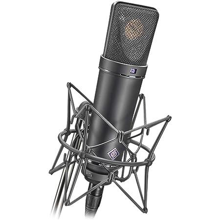 Neumann Microphone Set, Includes U 87 AI MT Microphone, EA 87 MT Elastic Suspension, WS 87 Windscreen, IC 3/25 Cable, Wooden Case, Black