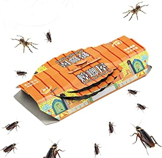 THERESA Cockroach Traps Sticky Indoor Killer,10 Pack Pest Control Capture Non Toxic Greener Mindest Cockroach Catcher Roac...