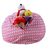 CapsA Bean Bags Stuffed Animal Storage Bean Bags Large Beanbag Chairs for Kids Plush Toys Holder and Organizer for Boys and Girls