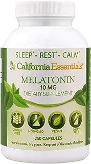 Melatonin Natural Sleep Aid Supplement - 10mg Gluten Free, Vegan Melatonin Nighttime SleepAid - Sleep Support Restlessness...
