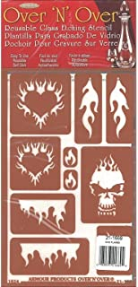 Armour Flames Over N Over Stencil