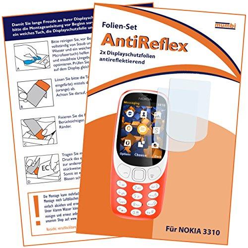 mumbi Schutzfolie kompatibel mit Nokia 3310 Folie matt, Bildschirmschutzfolie (2X)