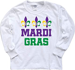 Mardi Gras Fleur De Lis Trio Youth Long Sleeve T-Shirt