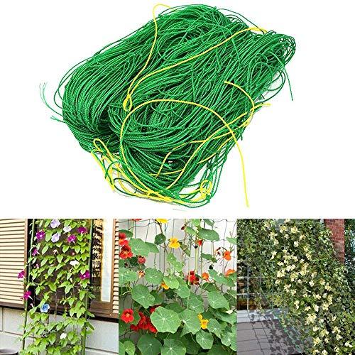 RUIXIA Gartennetz Vogelschutz für den Garten, Ranknetz Baumnetz Pflanzennetz Stütznetz mit großer Maschenweite für den perfekten Wachstum von Gurken, Tomaten und Kletterpflanzen (1,8x2,7m)