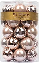 KI Store Christmas Balls Blush Pink 1.57-Inch Small Shatterproof Christmas Tree Ball Ornaments Decorations for Xmas Trees ...