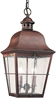 Best weathered copper pendant light Reviews