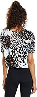 Rockwear Activewear Women's Urban Jungle Animal Print Tee from Size 4-18 for T-Shirt Tops