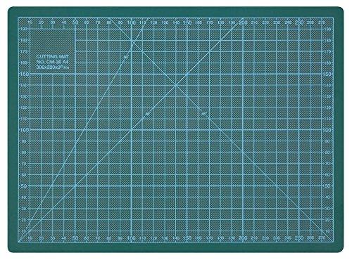 Wedo 79130 Schneideunterlage Cutting Mat A4 (CM 30, selbstschließende Oberfläche, 30 x 22 x 0,3 cm) grün
