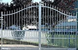 Cancello a doppia anta ZINCATO A CALDO in ferro pieno (escluso telaio) 3000x2306mm. TOSCANA 3000.12 Taliani Ferro