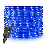 WYZworks 150' feet Blue LED Rope Lights - Flexible 2 Wire Accent Holiday Christmas Party Decoration Lighting | ETL Certified