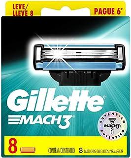 Carga Para Aparelho de Barbear Gillette Mach3 - Leve 8 Pague 6, Gillette