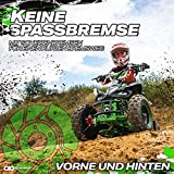 Actionbikes Motors Kinder Elektro Miniquad ATV Racer schwarz/blau - 3