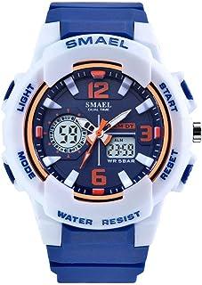Women's Sport Wrist Watch,Quartz Dual Movement with Analog-Digital Display Watches for Women- Blue
