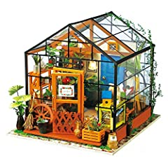 【Exquisite Mini House and Eco-Friendly Materials】Our diy doll house is very well made, using a miniature scale of about 1:24. 【English Instruction with Illustration】Cute and Amazing Mini Garden House, English Assembly Instructions with detailed illus...