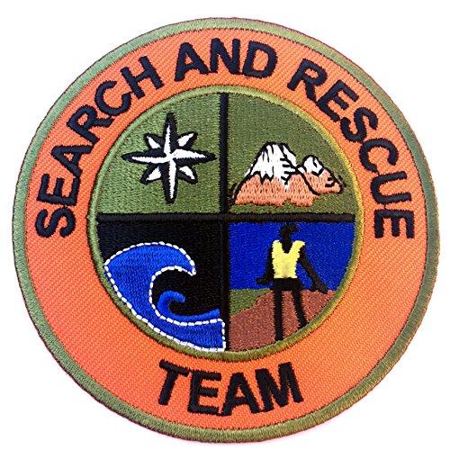 Suche und Rettung Team Patch 8cm Embroidered Iron on Badge Aufnäher Mountain Support Coast Guard Air Fancy Kleid Kostüm Shirt-Hubschrauber Bag Jacke