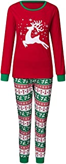 Hmlai Clearance Children Kids Cartoon Deer Long Sleeve Top+Snowsuit Pants Bodysuit Christmas Pajamas Outfits Homewear