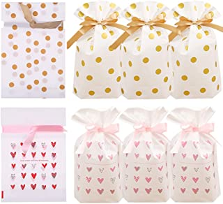 24pcs Treat Bags Party Favor Bags Plastic Drawstring Gift Bags Candy Goodies Bags Food Storage Bags Gift Wrapping Package for Birthday Party Wedding Baby Shower Bridal Shower Holiday Party