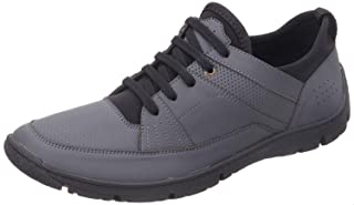 Salerno Faux-Leather Round-Toe Lace-up Sneakers For Men