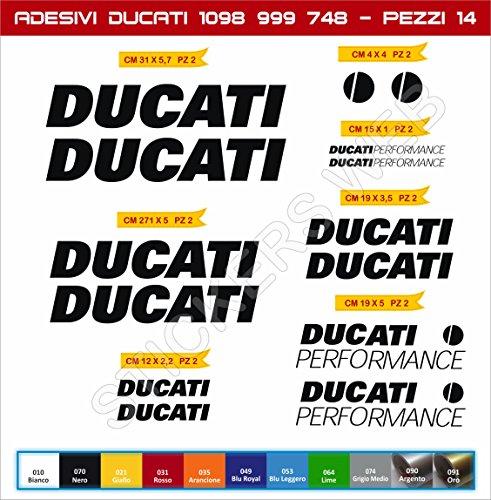 Lot de 14 Stickers DUCATI Perfor...