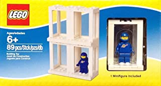 Lego Minifigure Display Presentation Case Box + 1 Bonus Blue Space Minifigure