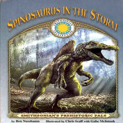 Spinosaurus in the Storm audiobook cover art