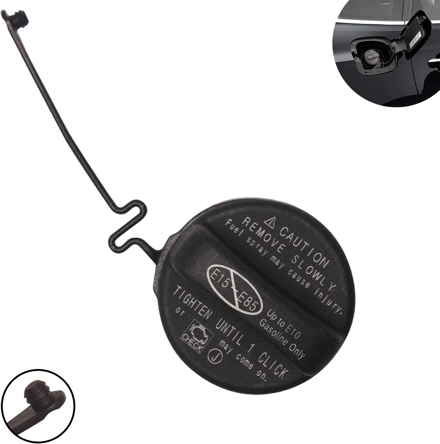 Beneges Fuel Tank Gas Cap Compatible with 2004-2016 Matrix Camry Avalon Rav4 Sienna Corolla RX350 IS250 IS350 ES350 77300-06040