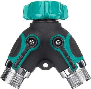 EsportsMJJ 2 façons 3/4 pouces de l'eau de jardin extérieur robinet séparateur de tuyau d'eau adaptateur