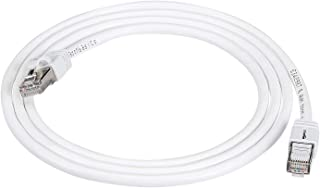 AmazonBasics RJ45 Cat 7 High-Speed Gigabit Ethernet Patch Internet Cable - White, 5 Foot