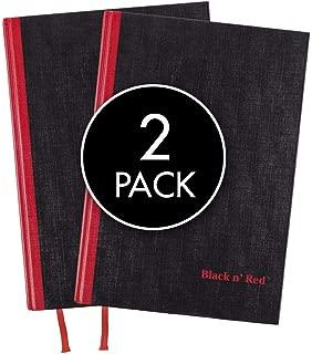 Black n' Red Casebound Hardcover Notebooks, Medium, Black, 96 Ruled Sheets, Pack of 2 (73405)