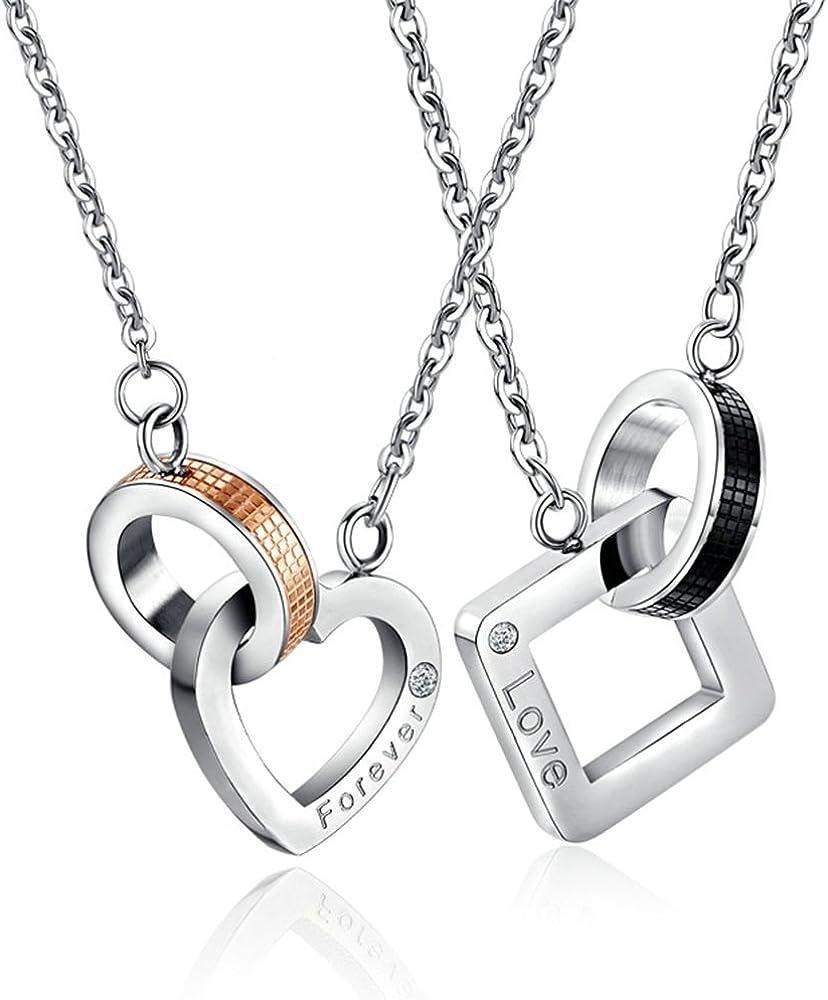 Designer Inspired Titanium Steel Forever Love Heart Earrings Studs