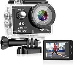 Action Camera ZONKO 4K 16MP 4X Zoom Wi-Fi Sports Camera 2