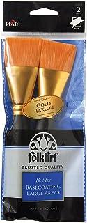 Folkart Golden Taklon Basecoating Brush Set-2 / Pkg