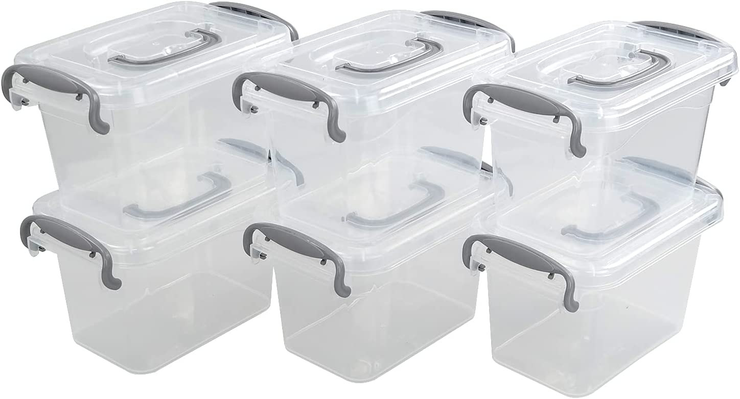 Nesmilers 1.8 L Plastic Latch Clear Box Max 77% Discount is also underway OFF 6-Pack Storage