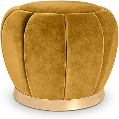 FJFDZ Ottoman Footstool Chair Makeup Dressing Vanity Stool Creative Footrest Soft Upholstered Velvet Wooden Change Shoes Bench