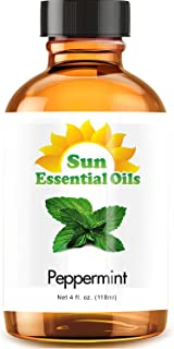 Best Peppermint Oil (Large 4 Oz) Aromatherapy Essential Oil for Diffuser, Burner, Topical, Useful for Hair Growth, Headach...