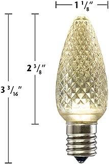 Minleon C9 Twinkle LED Christmas Light Bulbs (25 Pack) - Warm White